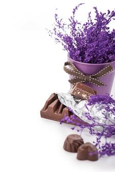 Barre de chocolat en papillote