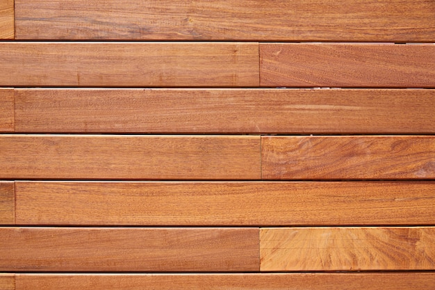 Barrière de terrasse en bois de teck ipe