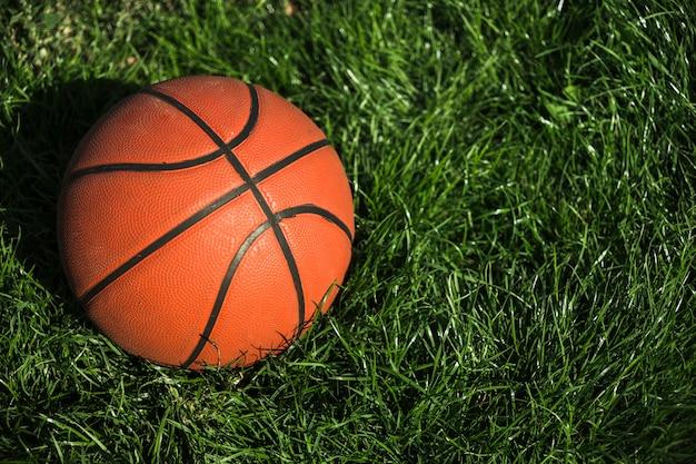 Basket-ball sur l'herbe se bouchent