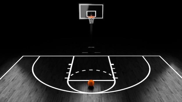 Basketball arena avec ballon