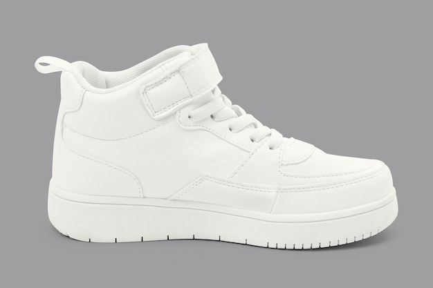 Baskets Montantes Blanches Mode Chaussures Unisexes Photo gratuit