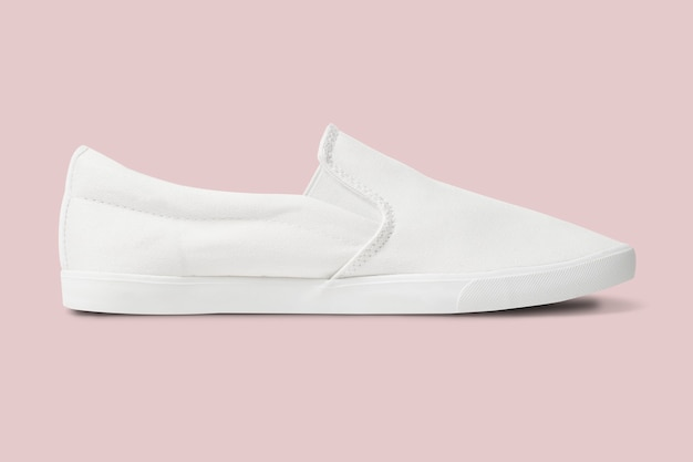 Baskets streetwear unisexes à enfiler blanches mode