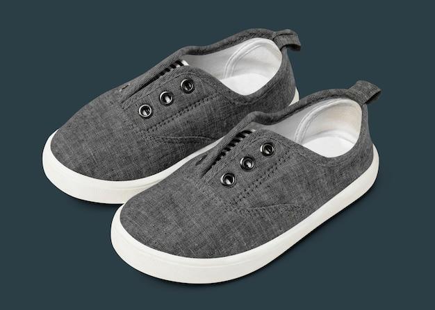 Baskets streetwear unisexes à enfiler grises mode