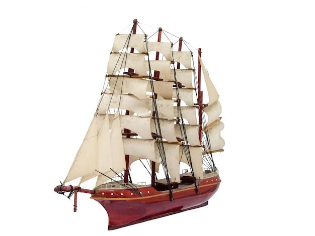 Bateau de barque modèle artisanal cadeau en bois