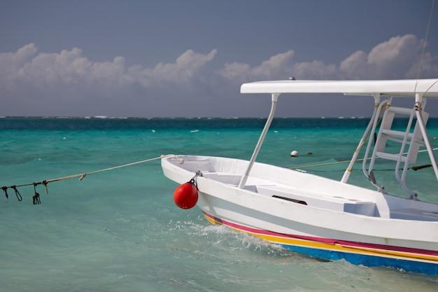 Bateau de pêche et plongée en apnée dans la marina