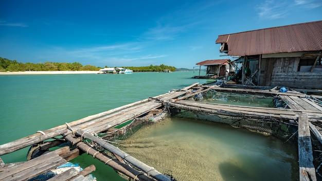 Bateau de pêche en ponton