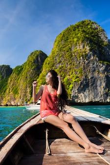 Bateau touristique en bois pour bateau page to phi phi