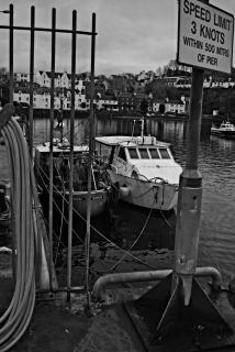 Bateaux dans le port de portree, isle of skye