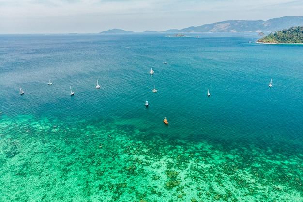 Bateaux, voile, tourisme, mer tropicale, île, lipe