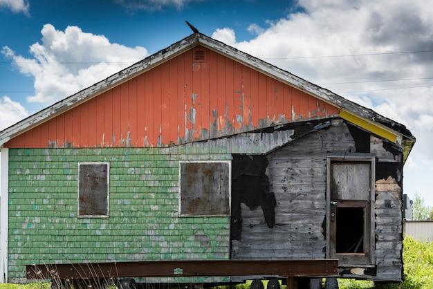 Bâtiment abandonné, grand bay-westfield, nouveau-brunswick, canada
