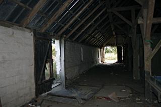 Bâtiment abandonné, à l'intérieur