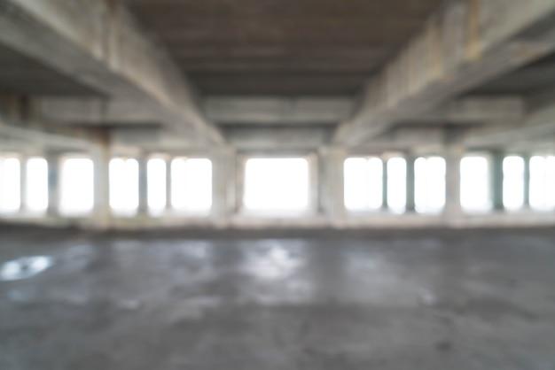 Bâtiment abandonné vide pour le fond