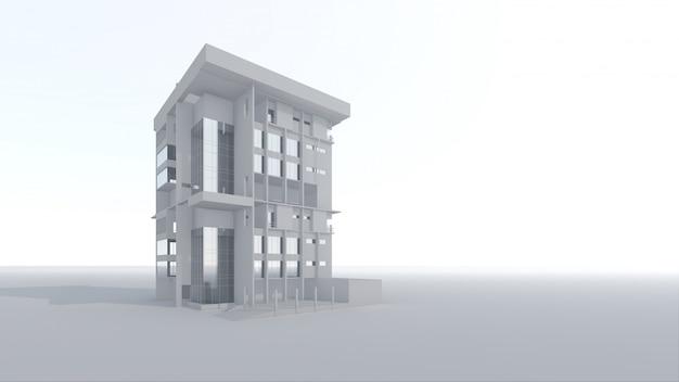 Bâtiment architectural 3d