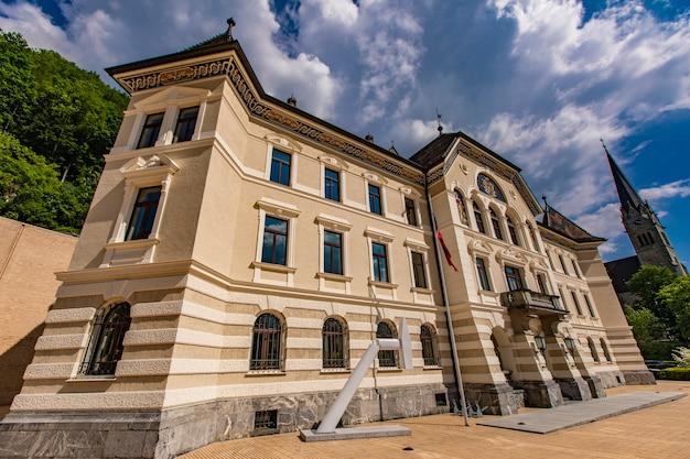 Bâtiment des archives nationales du liechtenstein à vaduz