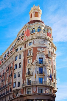 Bâtiment banco de valencia dans la rue pintor sorolla
