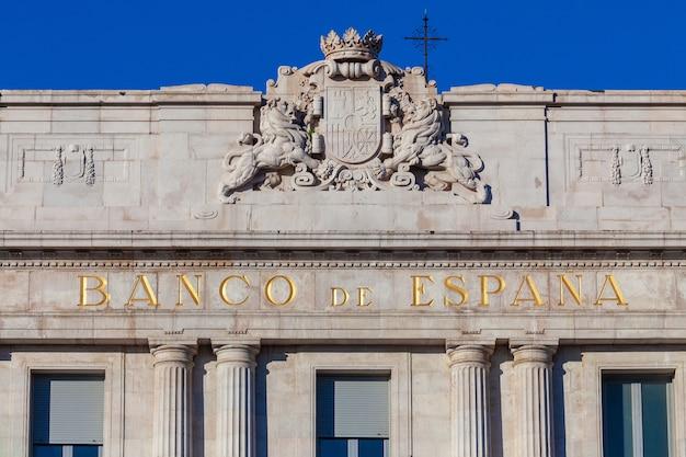 Bâtiment de la banque d'espagne situé à santander (cantabrie)