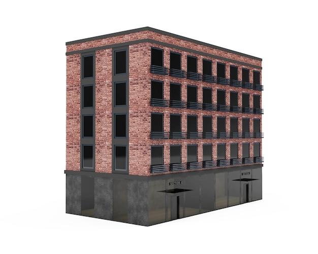 Bâtiment en brique moderne avec de grandes fenêtres