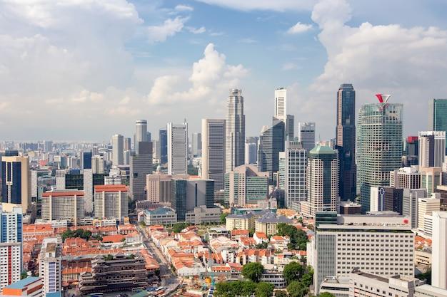 Bâtiment commercial et quartier financier à singapour