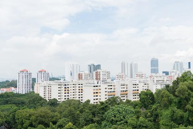 Bâtiment dans la ville de singapour.