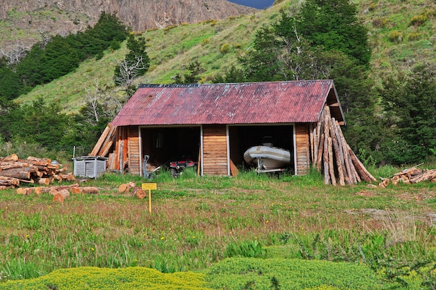 Le bâtiment à el chalten, patagonie, argentine