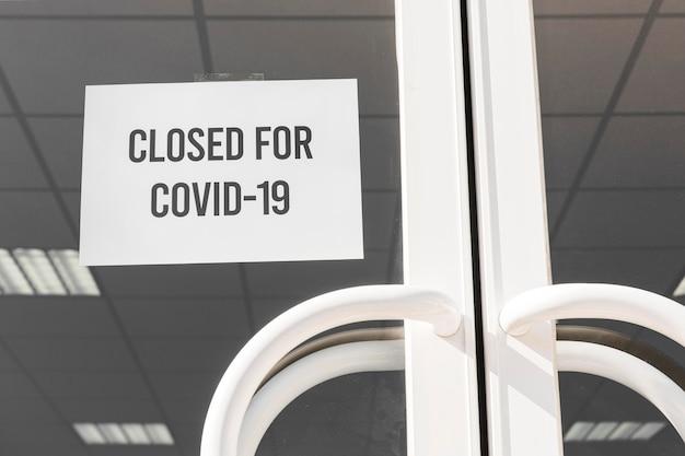 Bâtiment fermé en raison de la covid 19