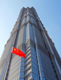 Bâtiment jinmao, quartier financier de pudong, shanghai.