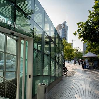 Bâtiment moderne en verre, santiago, région métropolitaine de santiago, chili