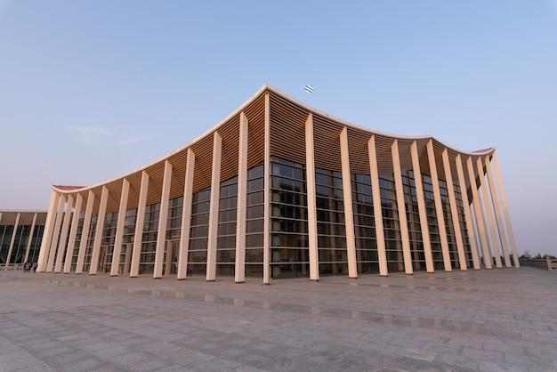 Bâtiment permanent du forum meizhou mazu, chine.
