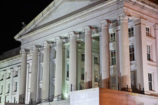 Le bâtiment de la ville de washington aux états-unis
