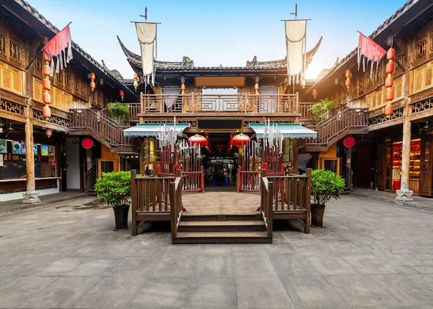 Bâtiments anciens dans kuan alley et zhai alley, chengdu, sichuan