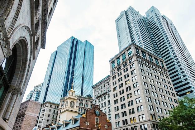 Bâtiments d'architecture dans le centre-ville de boston