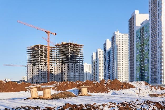Bâtiments en construction