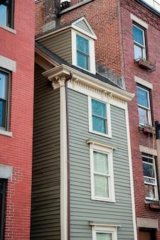 Bâtiments, dans, petit, italie, district, boston, massachusetts, usa