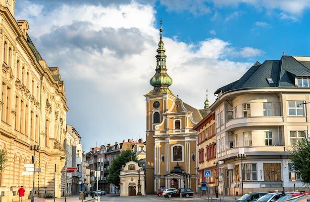 Bâtiments de la vieille ville de prerov - région d'olomouc, république tchèque
