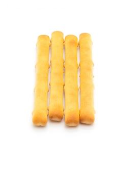 Bâton de pain biscuits sur tableau blanc