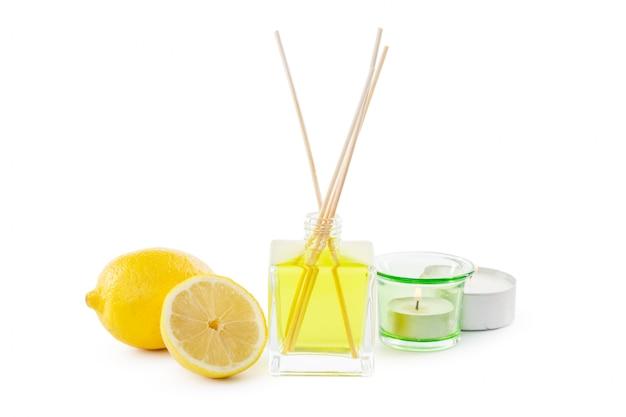 Bâtonnets ou bouteilles de parfum diffuseur de parfum au citron