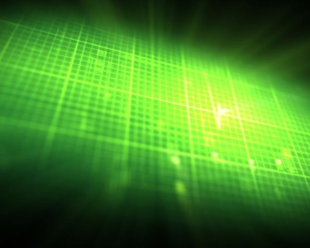 Battement de coeur vert ecg