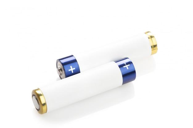 Batterie sur blanc