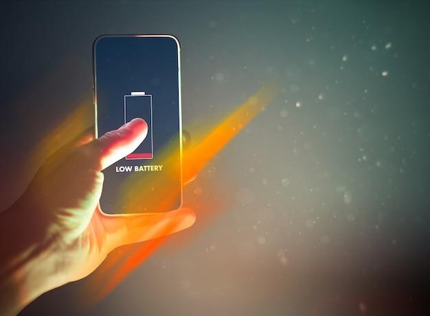 Batterie faible dans le téléphone