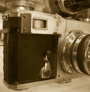 Battre vieille caméra