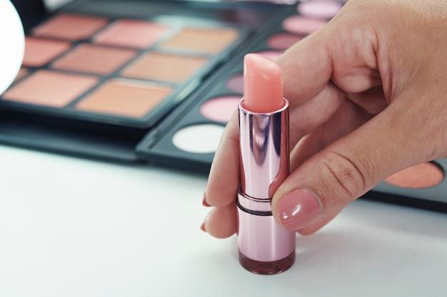 Baume à lèvres rose clair