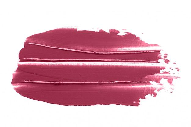 Bavure de rouge à lèvres isolé on white
