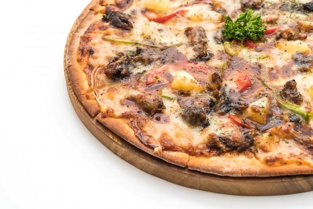 Bbq pizza au porc
