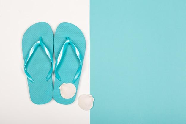 Beach flip flop on color