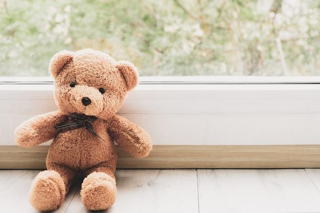 Bear se tenait par la fenêtre, ne sois pas triste
