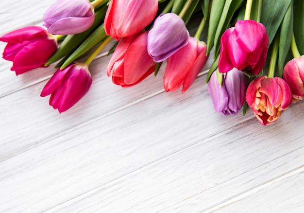 Beau bouquet de tulipes