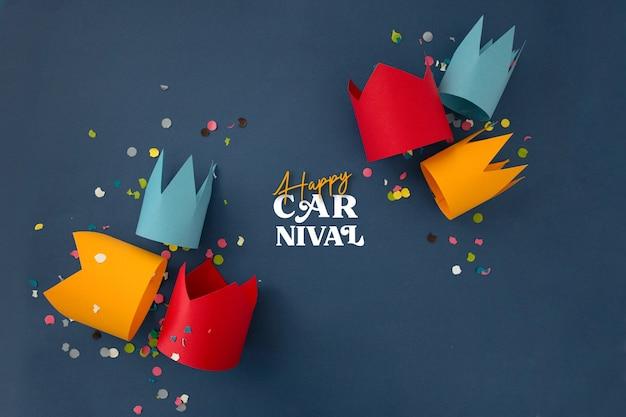 Beau carnaval avec décoration de fête