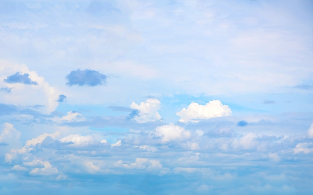 Beau ciel bleu avec formation de nuages