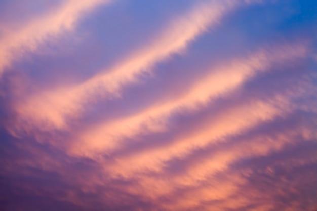 Beau ciel de couleur pourpre