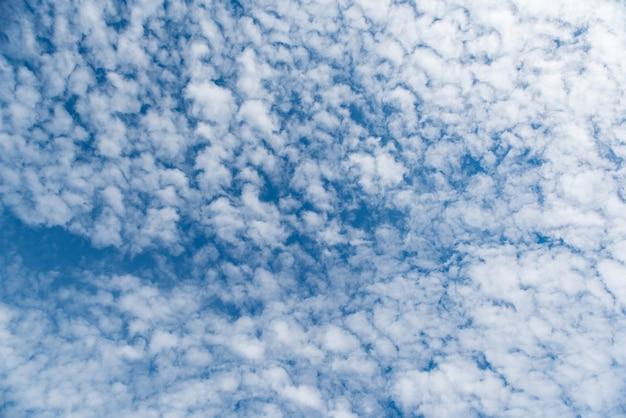 Beau cirrocumulus ou altocumulus sur la couche d'altitude moyenne